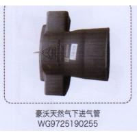 豪沃天然气下进气管WG9725190255【重汽储气筒】