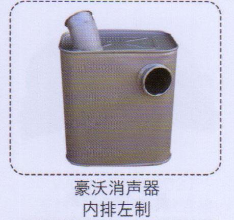 豪沃消声器,内排左制【重汽储气筒】/