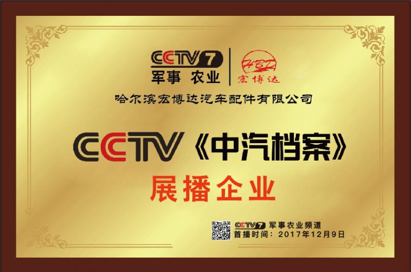 CCTV《中汽档案》展播企业