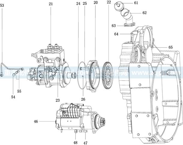 首页 分解图 发动机 潍柴动力 wp12欧Ⅲ系列 潍柴蓝擎wp12卡车用图册